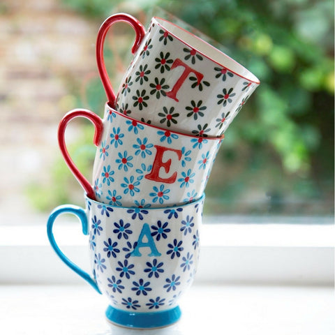 Bohemian Alphabet Letter Mugs by Hyde and Seek