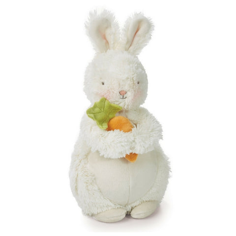 Fluffy Rabbit Soft Toy Holding a Carrot