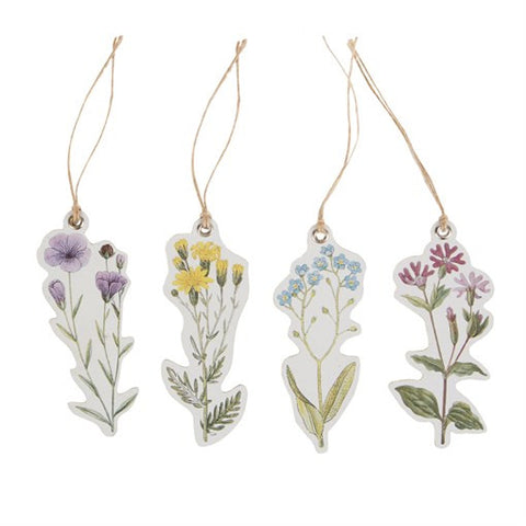 Set of 12 Wildflower Gift Tags by Sass & Belle