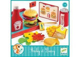 Ricky and Daisy Wooden Burger & Chips by Djeco