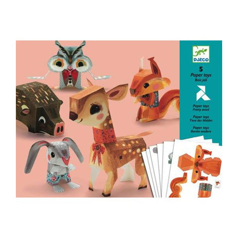 Paper Woodland Animals by Djeco