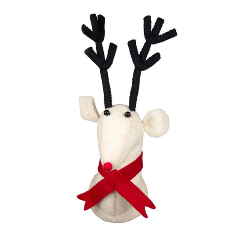 Lawrence The Reindeer With Red Scarf by Sass & Belle