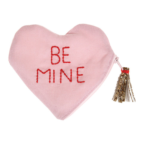 Be Mine Canvas Pouch By Meri Meri