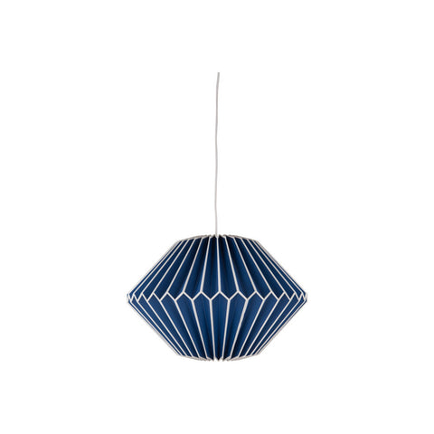 SKY BLUE GEOMETRIC PAPER LAMPSHADE
