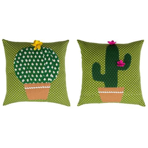 Colourful Cactus Cushion by Sass & Belle