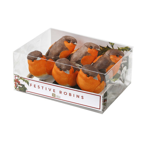 Festive Clip-on Robins by Talking Tables