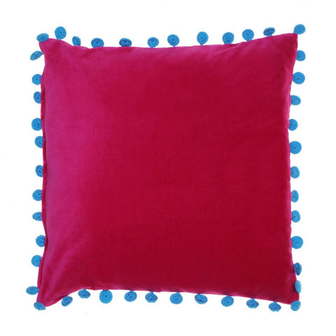 VELVET FUCHSIA CUSHION