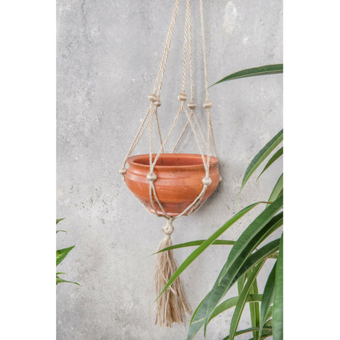 Jute Hanger with Terracotta Pot