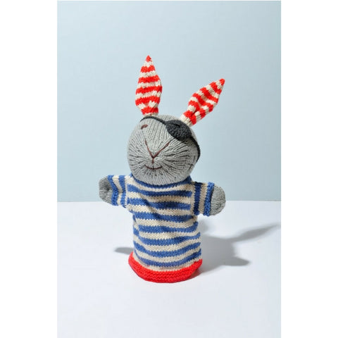 Pirate Rabbit Knitted Hand Puppet