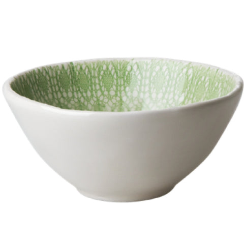 Ceramic Lace Bowl in Pastel Green by Rice DK