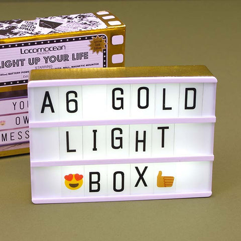 A6 Magnetic Light Box in Gold
