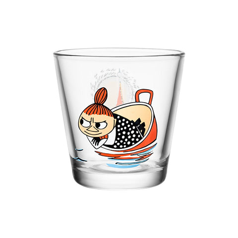 Moomin Glass with Little My Floating