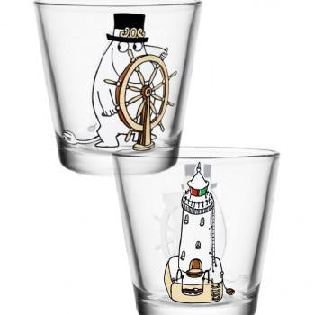Moomin Glass with Moominpapa at the Helm