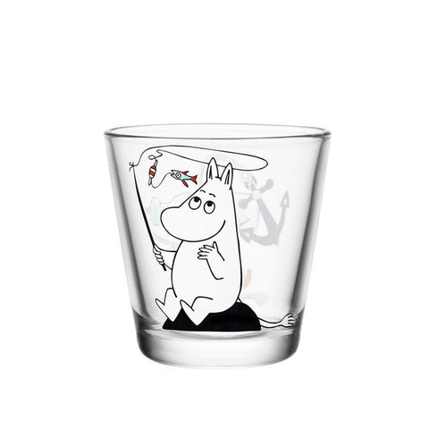 Moomin Glass with Moomintroll Fishing