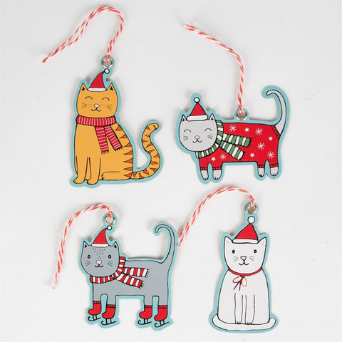 Dress Up Christmas Cats Gift Tags by Sass & Belle