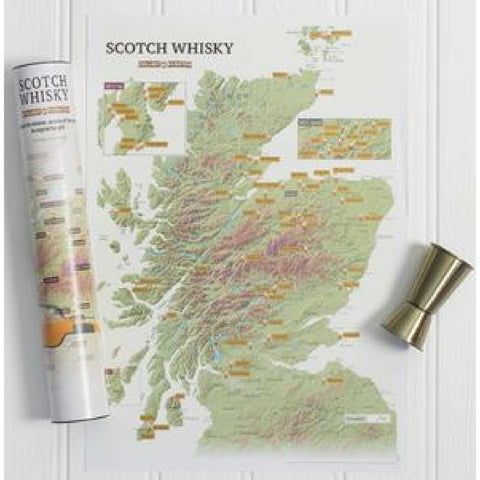 Collect And Scratch Scotch Whisky Map