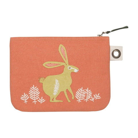 Hill and Dale Hare Zipper Pouch