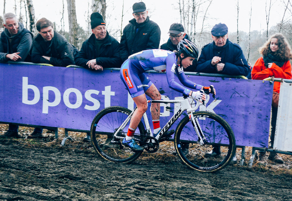 Sanne Cant poised at the GP Sven Nys