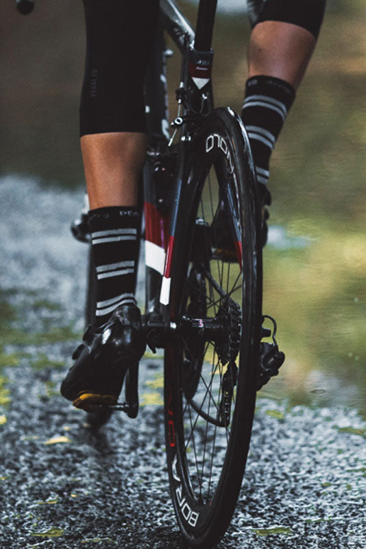 Pedal Ed Three Stripe Reflective Socks