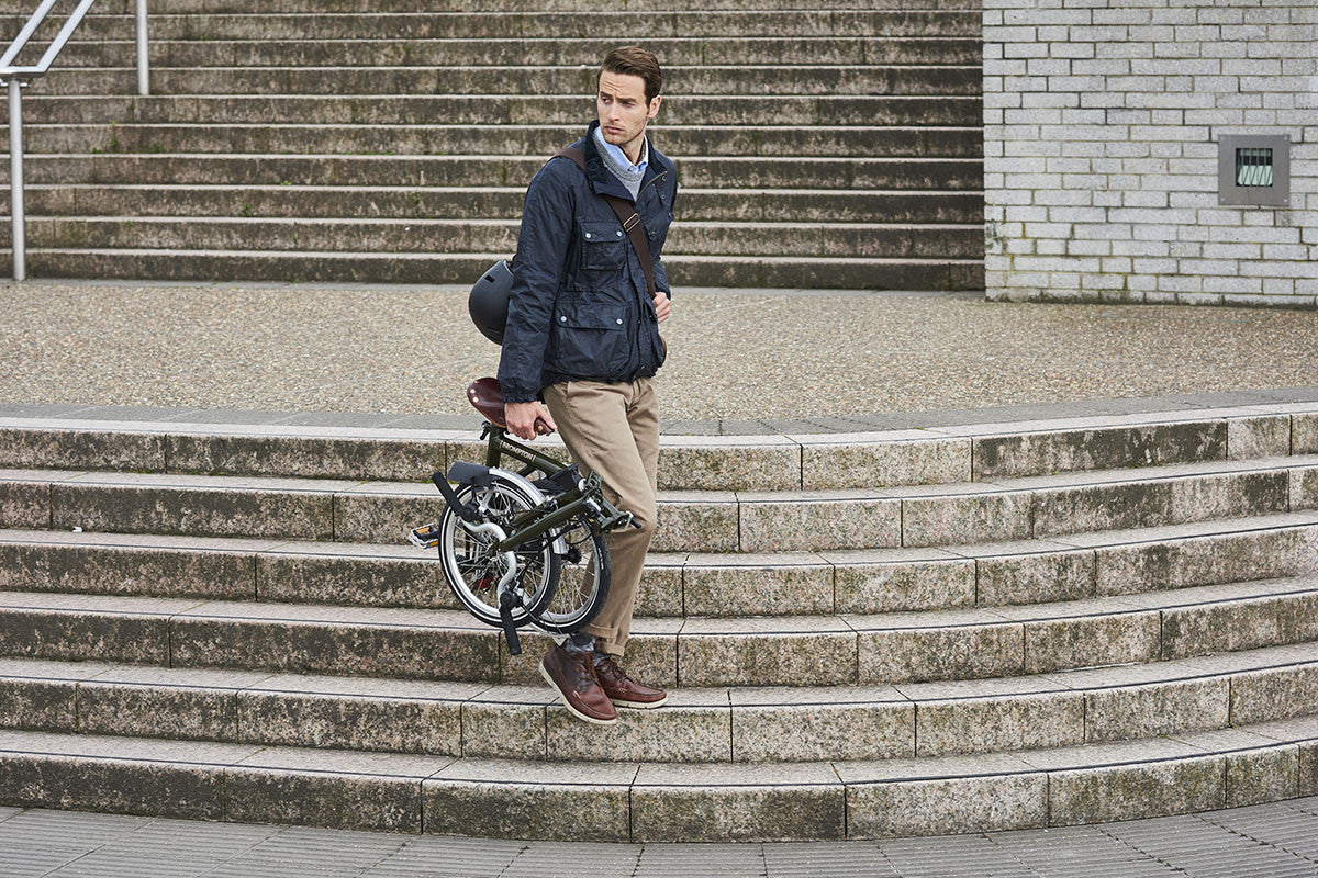 Brompton and Barbour collaborate on new bike and jacket a20fd2b68
