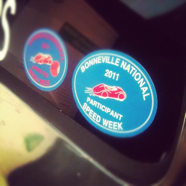 Bonneville stickers