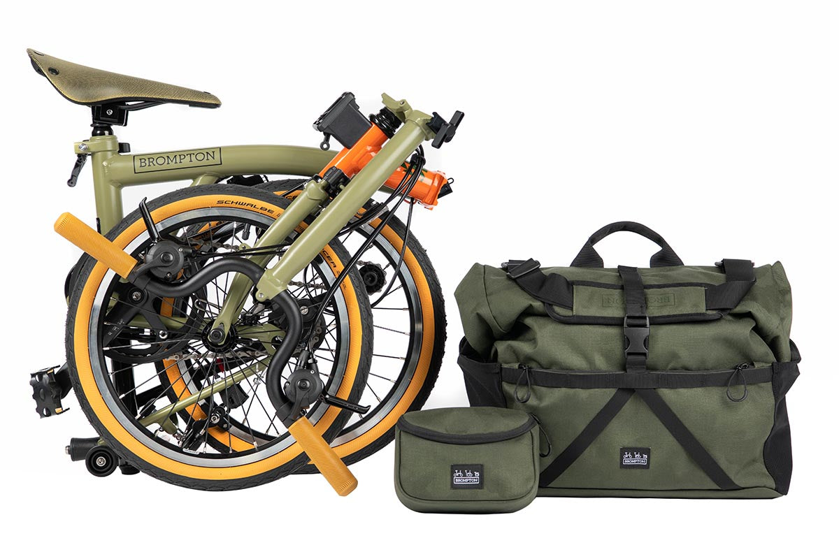 The Brompton Explore complete with bags