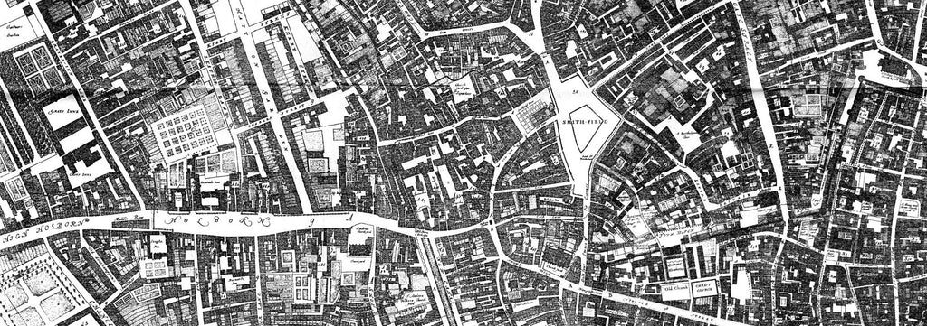 Map of Clerkenwell 1677
