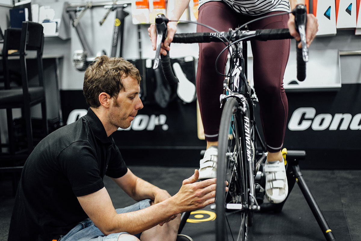 Bike fitting at Condor