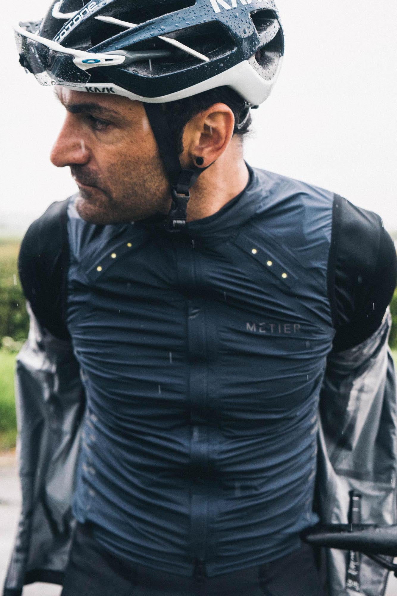 Kristian House wears the Metier Ultralight Gilet