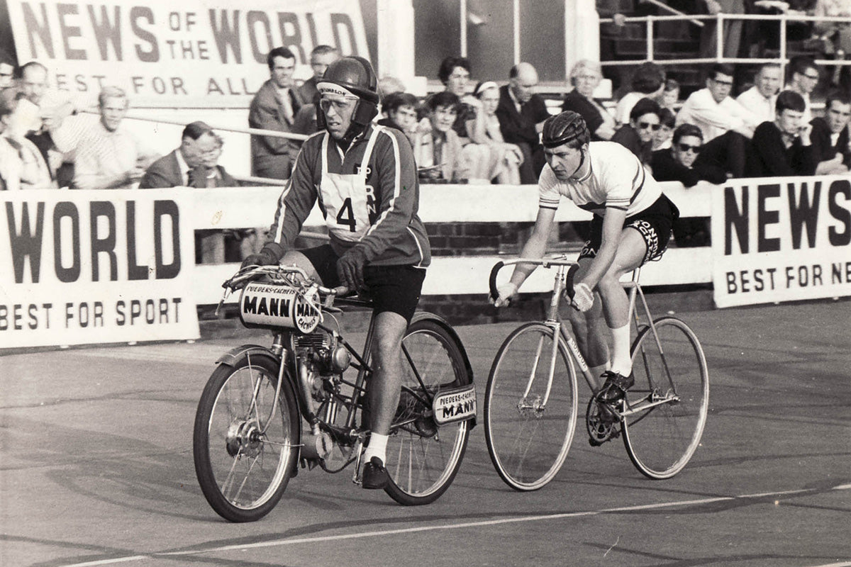 Condor riders at 1950s Good Friday track event