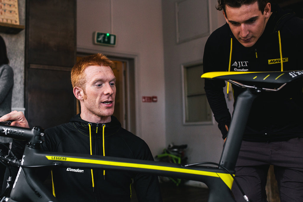 Ed Clancy and the new Condor Leggero