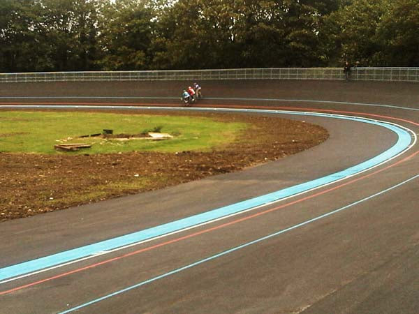 Herne Hill Velodrome track re-surface