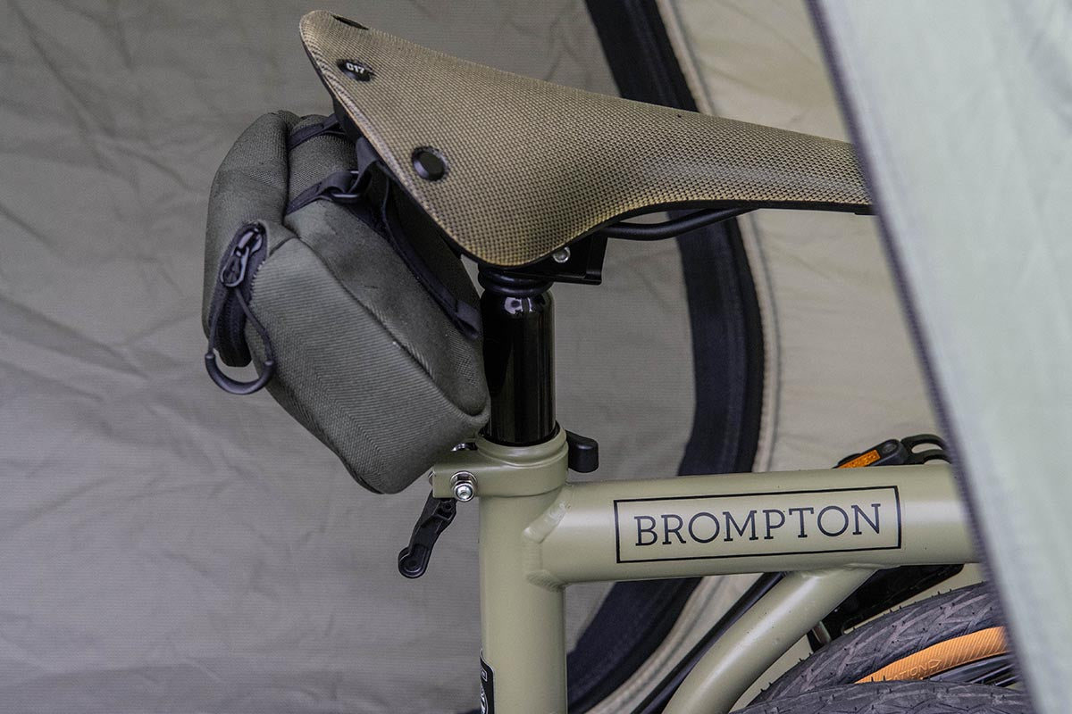 Brompton Explore with custom Brooks Cambium saddle