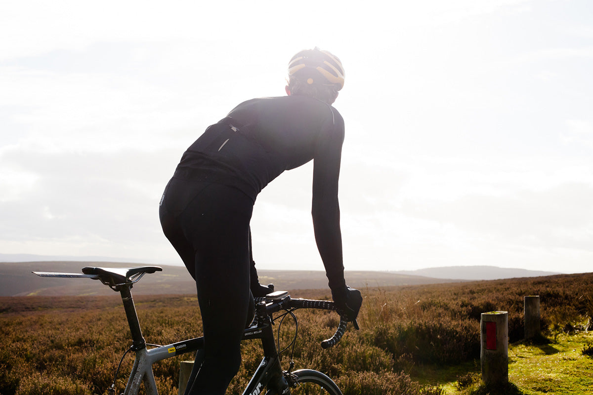 Luke Mellor of JLT Condor climbs over the Long Mynd, Shropshire