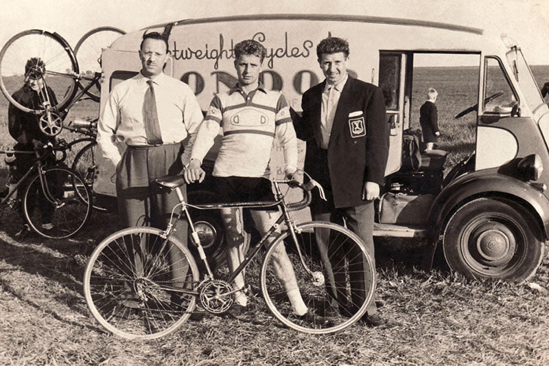 Monty at a bike race 1951