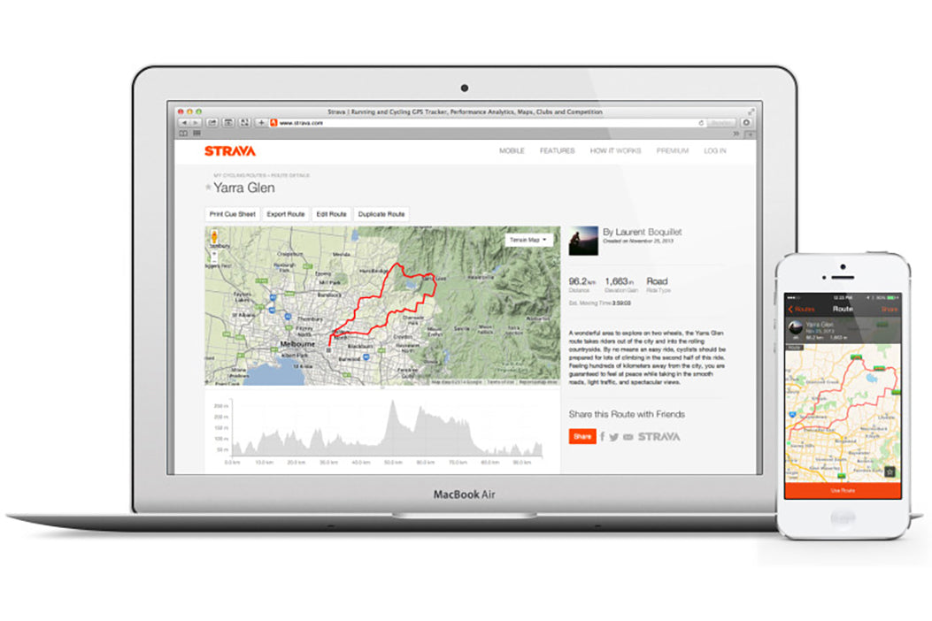 Strava Bicycle Navigation