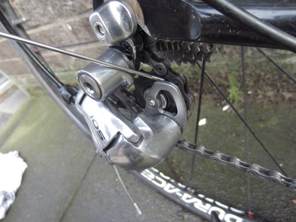 Scrape out rear mech
