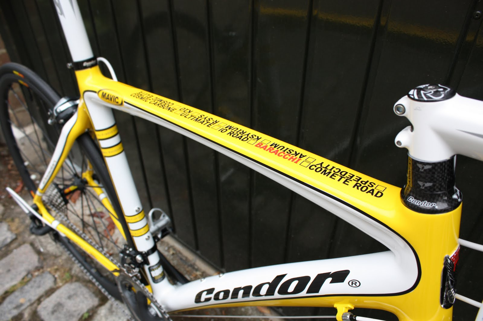 Condor Mavic Baracchi Top Tube