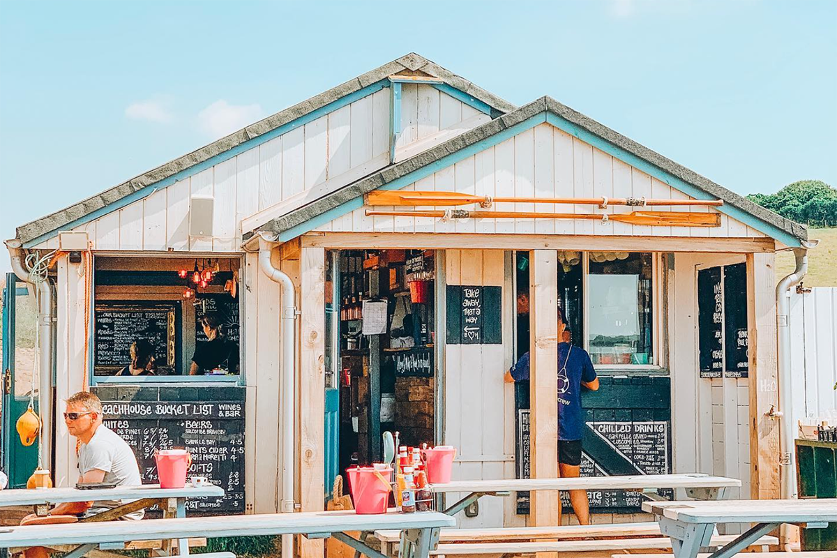 Devon's best beach shack restaurants and how to ride there