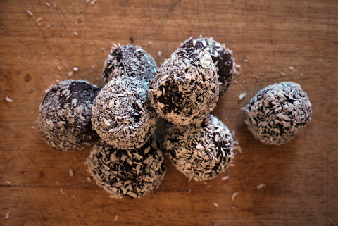 #aprèsride: double chocolate protein bites