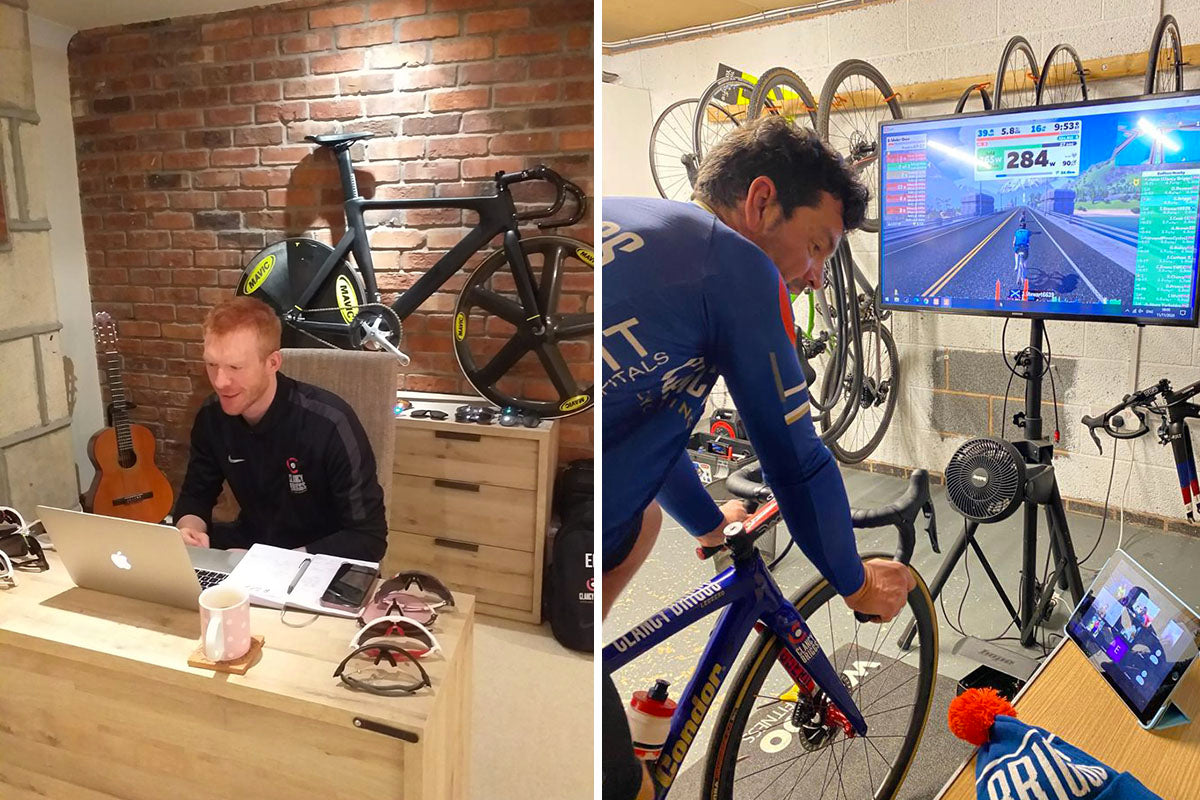 Ed Clancy and Graham Briggs lead a virtual session