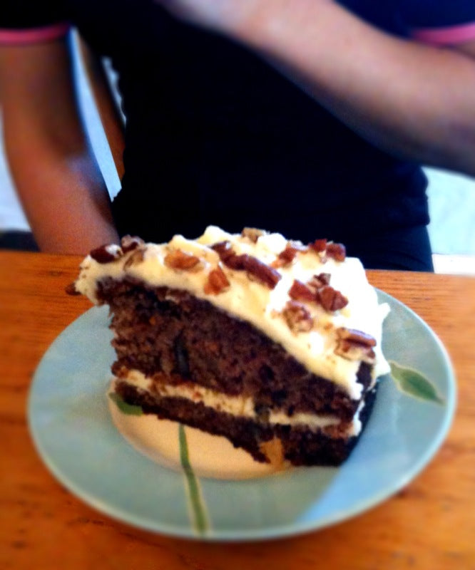 Hummingbird cake from the Cat and Fiddle