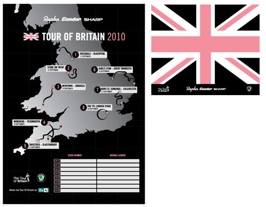 Rapha Condor Sharp - Tour of Britain Map