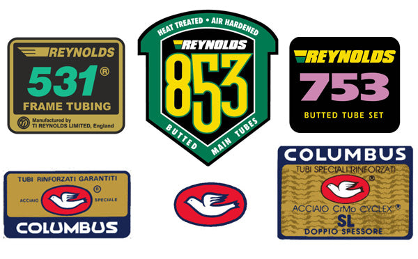 Reynolds and Columbus Tubing Badges
