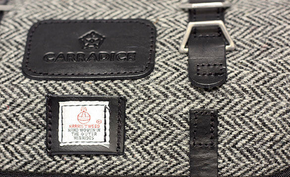 Carradice Barley Saddlebag - Tweed Herringbone