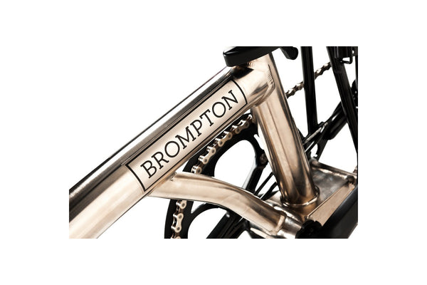 Brompton S6L Nickel Superlight Edition Folding Bike