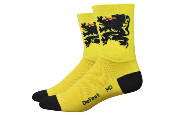 "Defeet Aireator Lion of Flanders Socks - 6"" Cuff"
