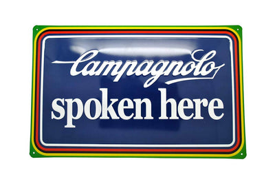 Campagnolo 'Spoken Here' Tin Plate