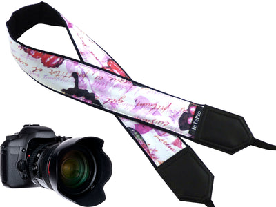 Butterfly camera strap with personalization. Photo accessory and great gift for photographers and travelers