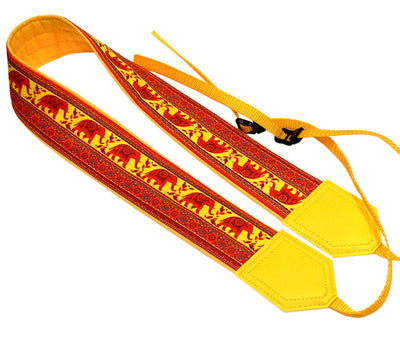 Camera strap with Lucky Elephant. Ethnic camera strap. DSLR / SLR Camera Strap. Photographer gift by InTePro